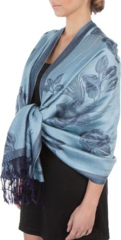 FUPashRose06AG Lightweight Two Tone Rose Floral Design Pashmina Fringe Scarf / Stole / Wrap - Blue / Navy Sakkas http://www.amazon.com/dp/B00470XAZQ/ref=cm_sw_r_pi_dp_2ku.tb0MMA9T4