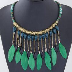 Collar de flecos, aleación de zinc, beads.us