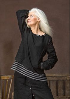 """Blouse """"Nolita"""" linen / cotton 65607-99.jpg"""