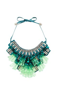 Love the combo of lime jewel tone hues with teal and silver