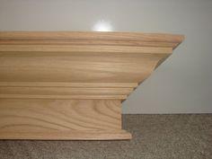 "48"" 60"" 72"" 84"" Contemporary Fireplace Mantel Mantle Red Oak Shelf Finished U Choose"