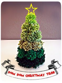 Pom Pom Christmas Tree DIY