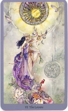 The Lovers (Shadowscapes Tarot Deck)