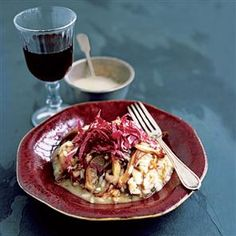 Risotto with mushrooms and radicchio recipe. The mild, milky flavour of oyster mushrooms works well with the bittersweet leaves.