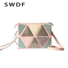 03c8106c5058 ... luxury bags designers handbags Suppliers  Sequined Patchwork Bag 2017  luxury bag Designer handbag women famous brand Rivet Envelope Bag ladies  Messenger ...