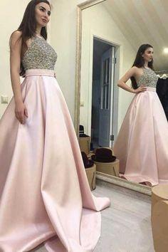 Pd70207 Charming Prom Dress,Satin Prom Dress,Beading Prom Dress,A-Line Evening Dress