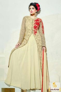#Cream Color, #Net, #Wedding Wear, #Anarkali Salwar Suit, #Cotton, # Mahendi, #Sangeet, #Festival, #Special occasion, #Party, #Embroidery work, #Printed work, #Bridal, #Designer, #Gracefull, #Fashionable, #Traditional, #New Collection, #Indian Fashion.