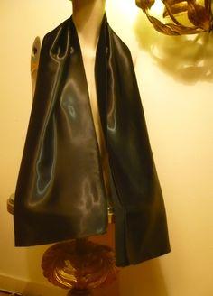 BLACK OPERA STOLE Vintage 1950 SiLK SATiN ShAWL dress WrAP Scarf 1960 1940  Madmen Rockabilly Vlv Madmen Mods skirt suit bridal 912eef35f74