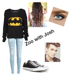 """""""Zoo with Josh Cuthbert !!"""" by camdallasisdabae ❤ liked on Polyvore featuring Converse, batman, unionj, zoo and JoshCuthbert"""