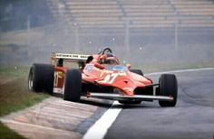 Gilles Villeneuve doing what he did best.