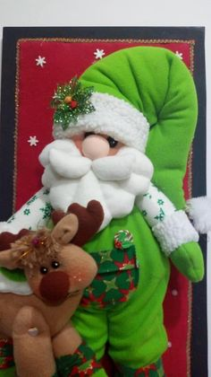 Burlap Christmas, Christmas Time, Christmas Decorations, Xmas, Santa Doll, Santa Baby, Doilies, Decorative Items, Snowman