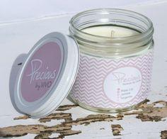 Precious Handmade Soy Candle for your Eco Chic by ViVOSpaBoutique, $20.00