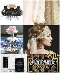 Image detail for -purse dresses vase hair piece stationery great gatsby Great Gatsby Theme, Great Gatsby Fashion, Great Gatsby Wedding, Flapper Wedding, Wedding Fascinators, Wedding Vintage, Wedding Advice, Wedding Blog, Wedding Favors