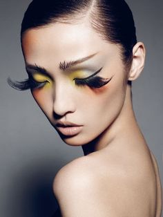 Gorgeous colors and fake lashes