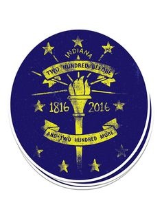 200 More Bicentennial Sticker -  from United State of Indiana  - 1