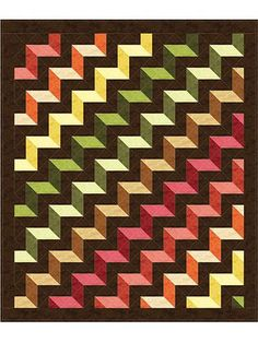 Stepping Up Quilt Pattern Strip Quilts, Scrappy Quilts, 3d Quilts, Cute Quilts, Barn Quilts, Patch Quilt, Geometric Quilt, Contemporary Quilts, Quilt Block Patterns