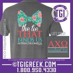 TGI Greek - Alpha Chi Omega - Sorority PR - The Tie That Binds Us - Gamma Zeta at Kansas State University