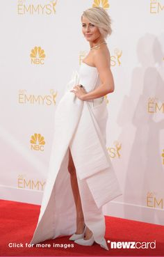 Actress Julianne Hough arrives at the 66th Annual Primetime Emmy Awards at Nokia Theatre L.A. Live on August 25, 2014 in Los Angeles, California.  (Photo by Jon Kopaloff/FilmMagic)  --  Access, discover and share millions of images at *newzcard.com.