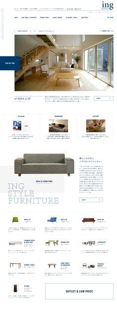 ing style furniture|oniguili|art direction & web design – 神戸・長崎 – MY DESIGN Web Design Company, Site Design, Ux Design, Layout Design, Nagasaki, Website Layout, Web Layout, Nice Website, Grid Web Design