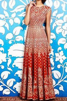 Red printed maxi dresses
