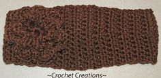 Amy's Crochet Creative Creations: Crochet Headband with Flower with button closure