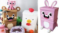 como se hacen las cajas de tela para guardar juguetes - Buscar con Google