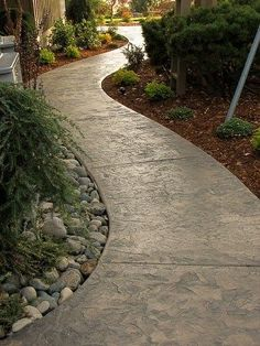 Stamped Concrete walkway | River