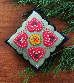 Cross My Heart Feltwork pattern