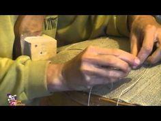 couture des ressorts sur la toile forte - YouTube