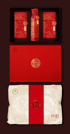 Chinese Wedding Tea Ceremony Pack Chinese Wedding Tea Ceremony Pack on Packaging of the World - Creative Package Design Gallery Design Typography, Design Logo, Design Poster, Label Design, Branding Design, Package Design, Branding And Packaging, Tea Packaging, Wedding Packaging