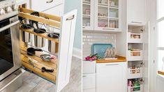 ◁ La MEJOR guia del 2020 para ORGANIZAR UNA COCINA PEQUEÑA Shoe Rack, Closet, Home Decor, Homemaking, Little Kitchen, Cleaning Hacks, Kitchen Gadgets, Furniture Design, Greenhouse Gardening
