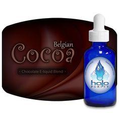 Parfum du moment: e-liquide Halo Belgian Cocoa. Un goût de chocolat riche et subtil. 7/10