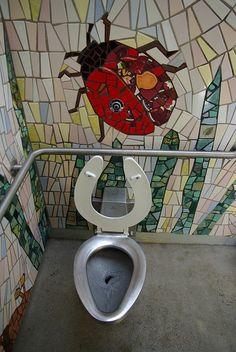ladybug mosaic | Bradner Gardens Park, Seattle...