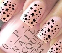 baby pink and stars