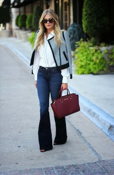 Sophisticated Bell Bottom Jeans  [ Find. Shop. Discover. www.specialteesboutique.com ]