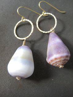 Hawaiian Cone Shell Earrings. $40.00, via Etsy.