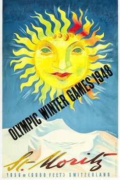 St Moritz 1948 Olympics, by Weiskonig.  Part of the Robert W. Johnson archive.