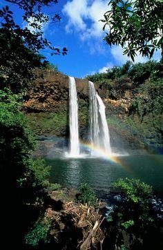 Wailua Falls, Kauai, Hawaii, USA #backpackinghawaii