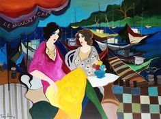"Original Painting ""Le Moulin a Cafe"" by Itzchak Tarkay"