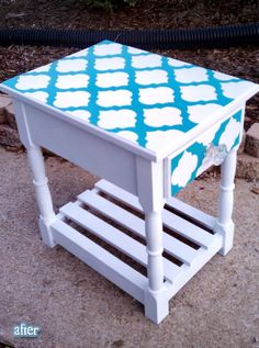 stenciled end tables