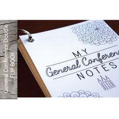 FLIPBOOK-General Conference Doodle Note  Pages via The Red Headed Hostess