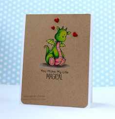 You Make My Life MAGICAL, MFT Stamps, My Favorite Things, Birdie Brown Stamps, Prisma Colored Pencils, MFT Magical Dragons