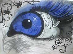 Eye with light
