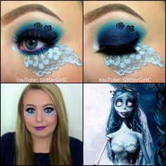 Corpse Bride Makeup Look Halloween. Youtube channel: full.sc/SK3bIA