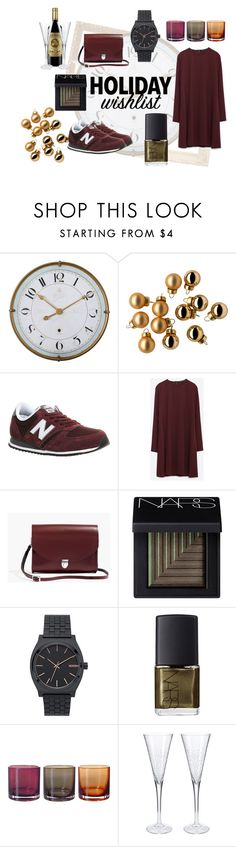 """""""Wine or champagne - whatever! Happy holidays XO"""" by povedski ❤ liked on Polyvore featuring Alouette, New Balance, Zara, Madewell, NARS Cosmetics, Nixon, contestentry and 2015wishlist"""