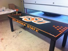 Custom Black OSU Beer Pong Table