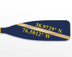 Coordinates (Latitude Longitude) Paddle - Custom Hand-Painted Paddle for Your Special Location - 1 Paddle pops ashes