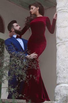 red velvet prom dresses,mermaid prom dresses,mermaid burgunday prom party dresses