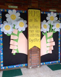 Mother's Day! Mothers Day Decor, Mothers Day Poems, Mothers Day Crafts, Crafts For Kids, Spring Decoration, Board Decoration, Grandparents Day Preschool, Letter O Crafts, Class Door Decorations