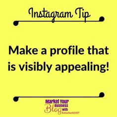 Instagram Tip: Make a profile that is visibly appealing. Remember your viewers are looking at this on a 4 inch screen. So how do you do this:  1. Use emojis!!!  2. Use a vertical appearance - with an Android you can use the return key with an iOS you'll need to write it in Notepad with the spacing you want and then copy it over to Instagram.  3. Use jabby few words on each lines    Want to learn more about building your business using Instagram? Or want to work closely with me? Click the…